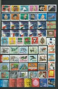 2 ) BELGIUM : COMPLET SETS USED STAMPS IN EURO WITH TINTIN - THEMATIC