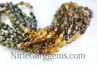 Natural Petrol Tourmaline Oval Shape gemstone beads 8 Inch AAA 5.5X7 MM