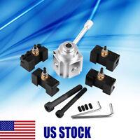 Quick Change Tool Post Mini Lathe Tool Kit Aluminum Alloy Post and Holder