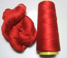 100% Mulberry Queen Silk Yarn 50gr 3Ply Chili Pepper Red Lace Weight Si 97 Lot B