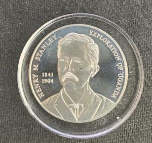Uganda 2002 2000 Shillings/ 1 Oz Silver Coin & *No Reserve!