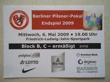TICKET Berliner Pilsner Pokal Endspiel 2009 1. FC Union Berlin - Tennis Borussia