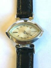 LeCoultre Ladies 14KT 17 jewel White Gold Mid-Century Modern design The Jetsons