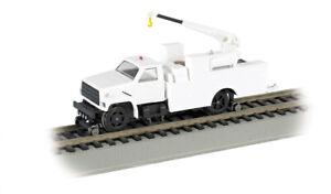 Bachmann 16901 HO-Scale DCC Hi-Rail MOW Truck, Head & Brake Lights, Crane, White