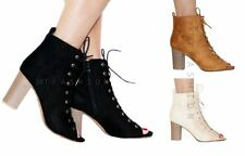 High Heel (3-4.5 in.) Peep Toes Lace Up Shoes for Women