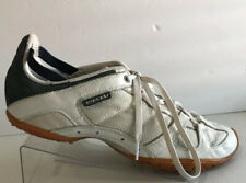 Womens 11 DIESEL Leather Sneakers Whitney White Beige Athletic Shoes Sneakers