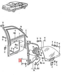 Genuine AUDI 100 Avant quattro 200 5000 Window Regulator With Motor 443837398D
