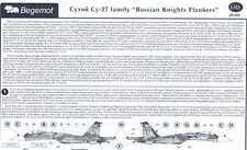 Begemot Decals 1/48 SUKHOI Su-27 FLANKER RUSSIAN KNIGHTS Aerobatic Team w/Masks