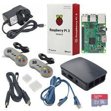 Raspberry Pi 3 16GB Retro Gaming Kit Desktop NOOBS SD Bundle+2 SNES Controller