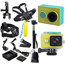 Original XiaoMi Yi WIFI Sports Action Camera+Accessories Kit+Charger+Battery USA