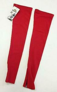 No Logo Super Roubaix Cycling LEG WARMERS in Red - Made in Italy by GSG