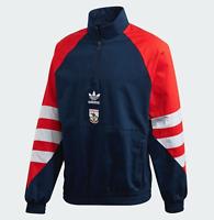 Arsenal Adidas Trefoil Quarter-Zip Retro Track Jacket size Large L