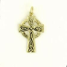 Collares y colgantes de joyería de metales preciosos sin piedras amarillo religiosos