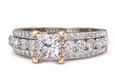 14K White gold 2.66ct Princess cut Diamond Princess Anniversary Engagement Ring
