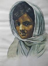 Large Portrait Sketch Tribal Tigray Eritrea Ethiopia