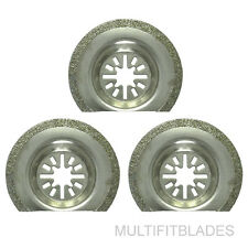 "3 x 2-1/2"" Diamond Oscillating Tool Blades - Makita Multi Tool Compatible"