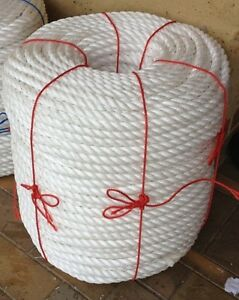 ROPE WHITE 20MM - PRICE IS FOR 250M ROLL -  HALF WHOLESALE PRICE POLYPROPYLENE