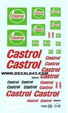 promo decalque  decals decalcomanie castrol fond vert  1/43