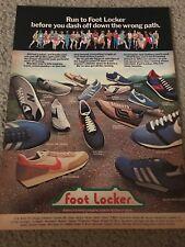 1979 FOOT LOCKER Poster Print Ad NIKE WAFFLE TRAINER 2 BERMUDA DAYBREAK SAUCONY