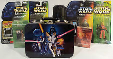 STAR WARS : LUNCH BOX, DARTH VADER FLASK, 2 X CCG PACKS, 4 X FIGURES (TK) (SC)