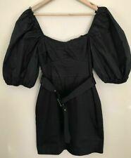 BNWT ZARA BLACK DRESS WITH VOLUMINOUS SLEEVES SIZE S
