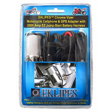 EKLIPES Chrome VIPER Motorcycle ATV Cellphone GPS Adapter Charger Harness