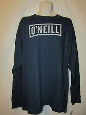 mens O'Neill L/S surfer  t-shirt XXL nwt block logo blue