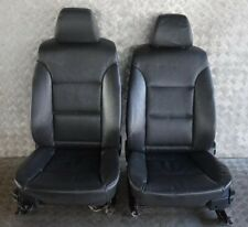 BMW 5 SERIES E60 E61 Black Leather Interior Front Seats Driver Passenger Side