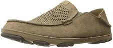 Olukai Moloa Kohana Men's Clay Leather & Suede w/ Rubber Sole Casual Shoes 12 US
