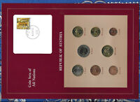 Coin Sets of All Nations Austria w/card 1,2,5,10,20,50 Cents 1,2 Euro 2002