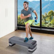 "35"" Aerobic Platform Adjust 6""-8""-10"" Cardio Fitness Stepper W/ Risers"
