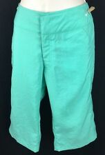 WOMENS CASUAL NIKE GOLF TENNIS WORKOUT CAPRIS SIZE L GREEN NWT