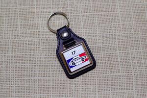Renault 17 Keyring - Leatherette and Chrome Keytag