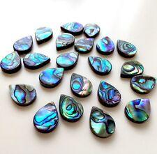 10 pcs rainbow abalone beads paua shell beads round larme, double face