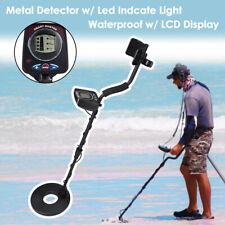 Waterproof Lcd Metal Detector Gold Digger Deep Sensitive Hunter Search w/ Led