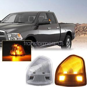 FITS Dodge Ram 1500 2500 3500 Clear Lens Amber LED Side Mirror Turn Signal Light
