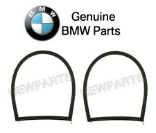 For BMW E46 Set of 2 Weatherstrip-Quarter Window Surrounding Gasket Black OES