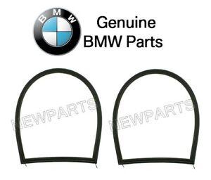 For BMW E46 Set of 2 Weatherstrip-Quarter Window Surrounding Gasket Black OES