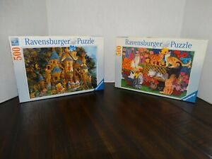 Preowned Ravensburger Lot of 2 Jigsaw Puzzles 500 Pieces