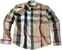 Burberry New Cotton Beige Color Women's Clothing T Shirt Button Down Dress Shirt