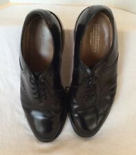 JOHNSTON & MURPHY MENS SIZE 9 D Black LEATHER WINGTIP OXFORDS LACE UP