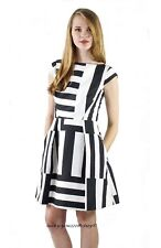 6e925a8d643 Kate Spade Black White Multi Stripe Kite Bow Cutout Back Dress 2