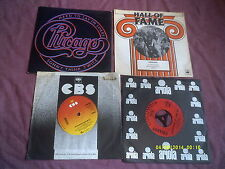 """CHICAGO 4 7"""" SINGLES inc 25 OR 6 TO 4,HARD TO SAY I'M SORRY"""