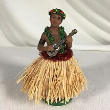 Dashboard Hula Dancer Rare Male Figure Hawaii 7 Inches Tall Ceramic Tiki