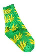 Plantlife 420/Weed/Pot/Marijuana Leaves in Lime/Yellow!Thick and Comply!