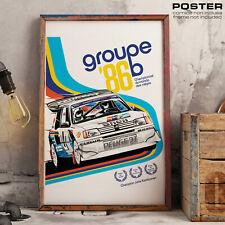 POSTER PEUGEOT Sport 205 Maxi GTI Rally WRC Group B Yuha Kankkunen 1986 History
