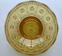 "Vintage Amber Glass - Tiara Indiana or Duncan Miller pattern - Glass Bowl - 9"""