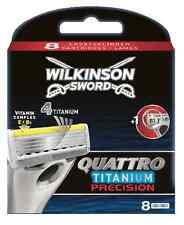 Wilkinson Sword Quattro Titanium Precision Carbon Razor Blades 8 Pack Genuine