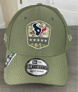 New Era 39Thirty NFL Houston Texans Salute to Service Hat - Size Large/XL - NWT