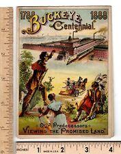 Political Buckeye Farm Equipment 1888 Predecessors Harrison Cleveland Trade Card